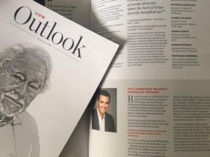 University of Wollongong Alumni Outlook Magazine: Diversity in the Media