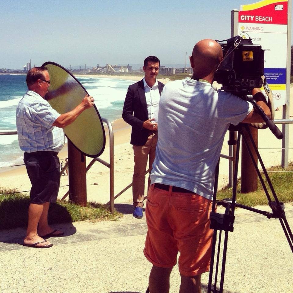 On location shoot in Wollongong (2014)