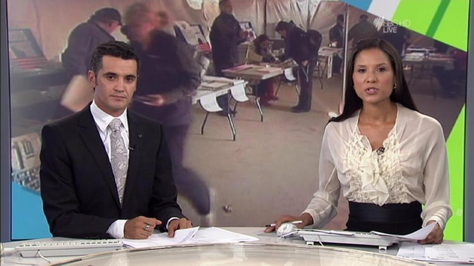 Presenting SBS World News with Janice Petersen (2014)